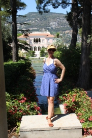 Me in my element at Villa Ephrussi