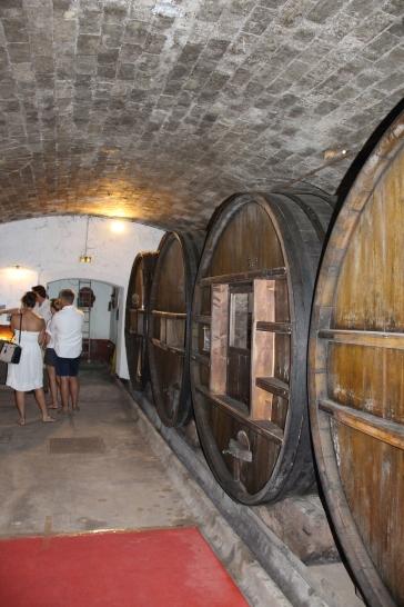 Cellar at Chateau de Saint-Martin