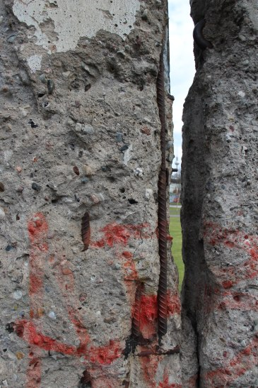 See the Television Tower through the crack in the Berlin Wall